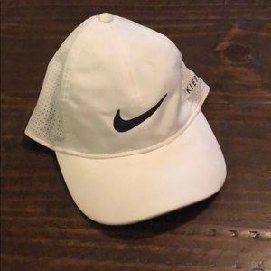 Nike golf white dri fit hat